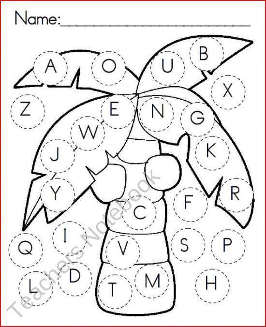 Chicka Chicka Boom Boom Uppercase Letters Activity Sheet Chicka