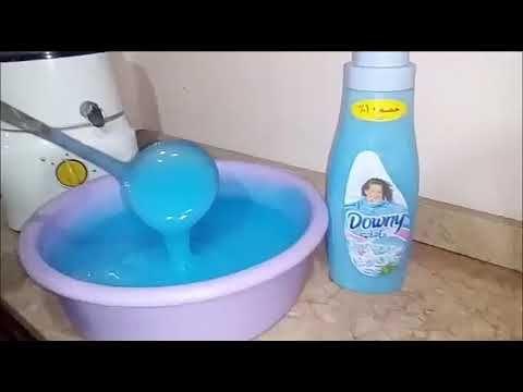 عملت من 25 جرام عجينة داونى 4 لتر داونى معطر ومنعم الملابس بطريقة بسيطة وسهلة Youtube Cleaning Supplies Cleaning Spray Bottle