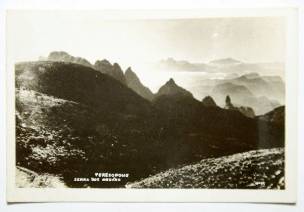 Antigo Cartão Postal: Serra dos Órgãos - Teresópolis. MBC.