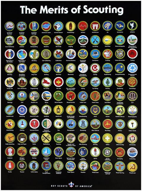 Sassy image intended for printable list of merit badges