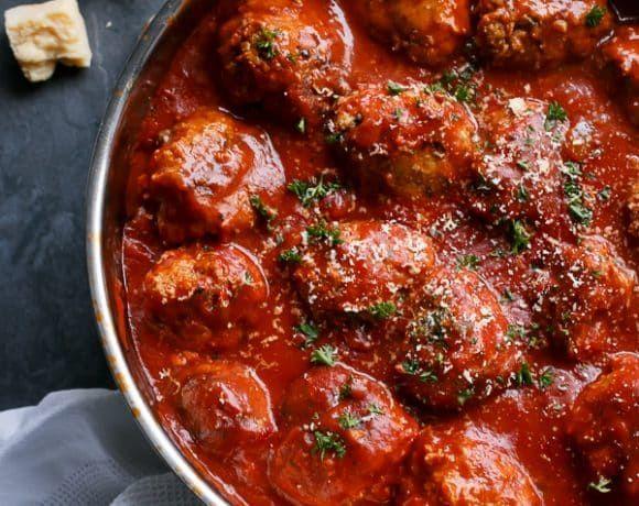 Turkey Pesto and Garlic Meatballs   https://cafedelites ...