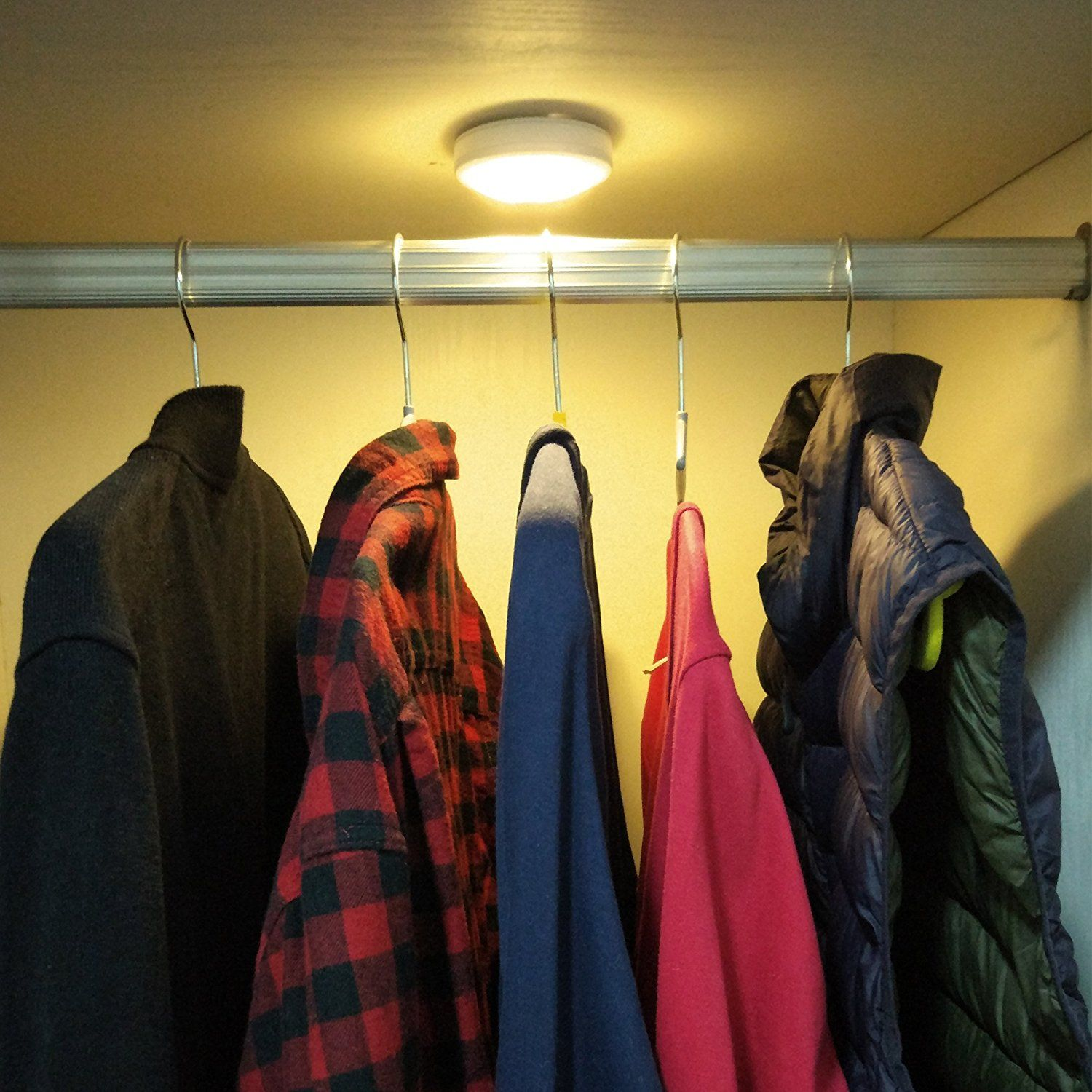 Sycees Touch Activated Led Puck Lights, Closet Light, Under Cabinet