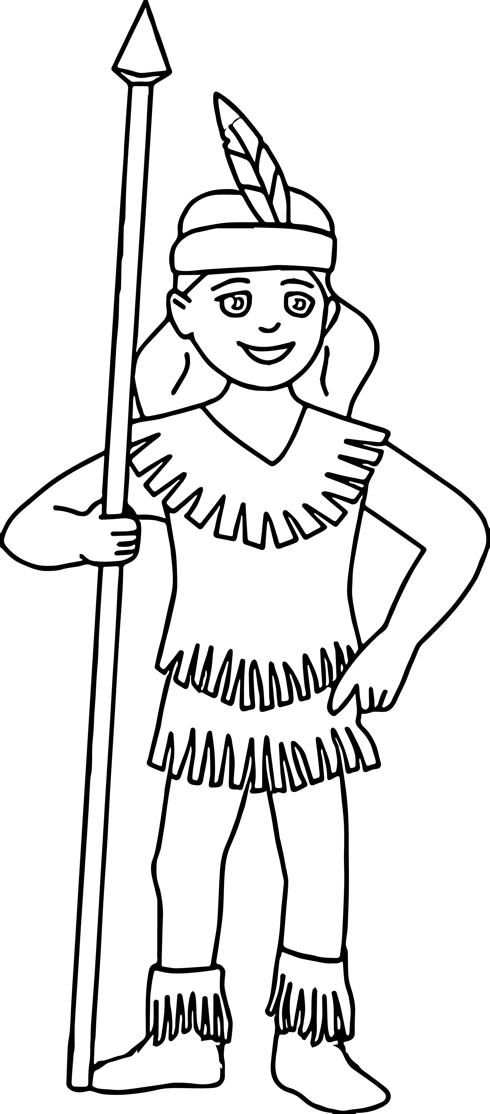 Native American Indian Girl Coloring Pages | wecoloringpage ...