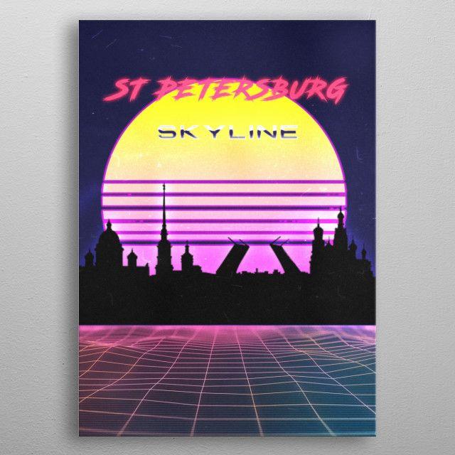 ST PETERSBURG by FARKI15 DESIGN | metal posters - Displate | Displate thumbnail