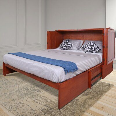 Red Barrel Studio Kaneshiro Queen Storage Murphy Bed With Mattress