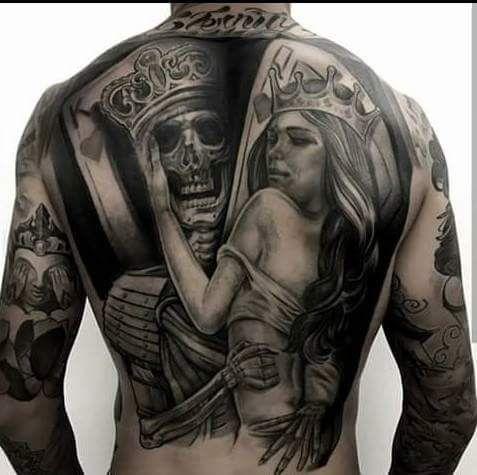 Espalda Calaveras Tatuajes Tatuajes De Samurais Tatuajes