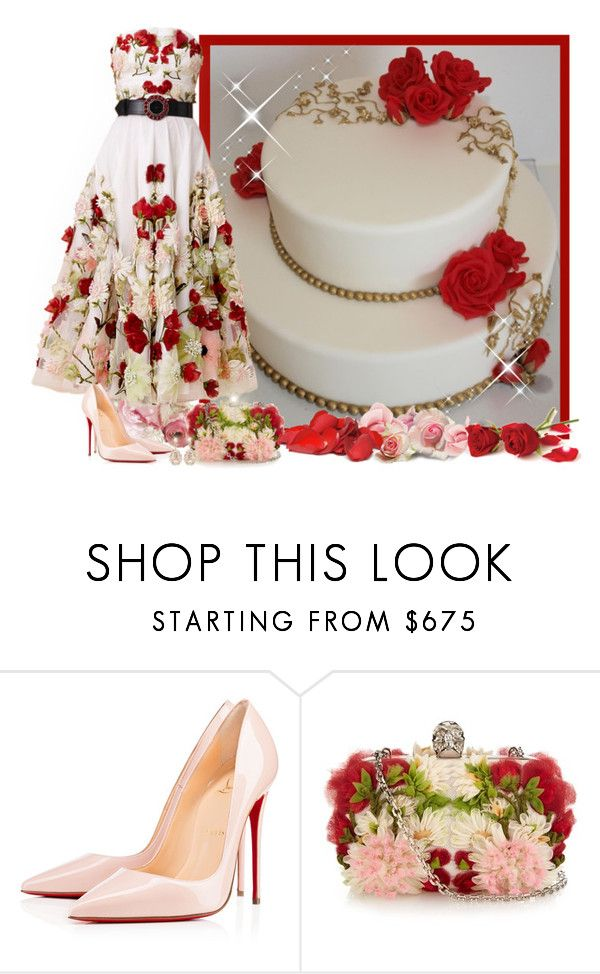 """""""FOOD WITH RED ROSES - Contest!"""" by asia-12 ❤ liked on Polyvore featuring Alexander McQueen, Christian Louboutin and Suzanne Kalan"""