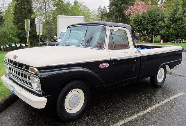 ford f100 custom cab twin i beam v8 pickup by d70 via flickr rh pinterest com