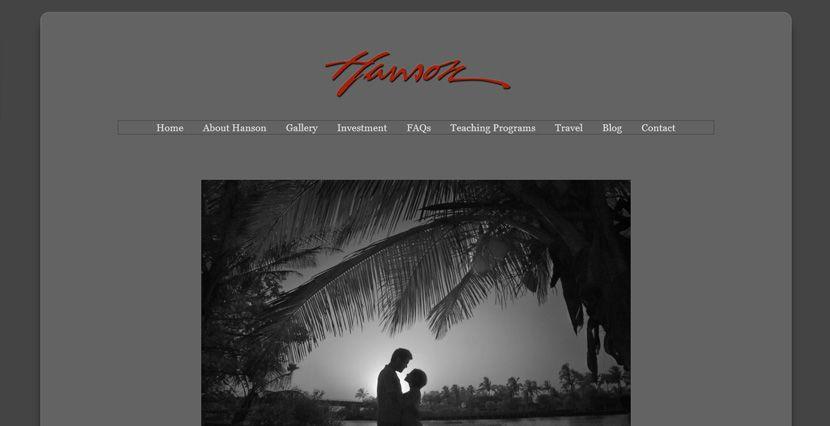 Hanson Fong Photography Website by New Skin Media.  SmugMug Customization