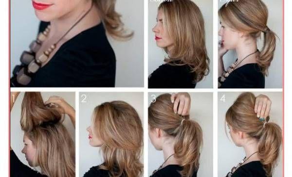 Schönes Kurzes Haar Von Der Einen Seite Geschnitten Und Lang Von Der