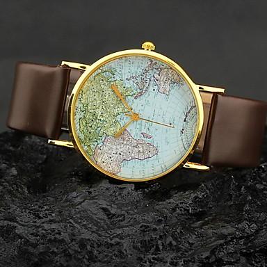 Women's Watch World Map Pattern