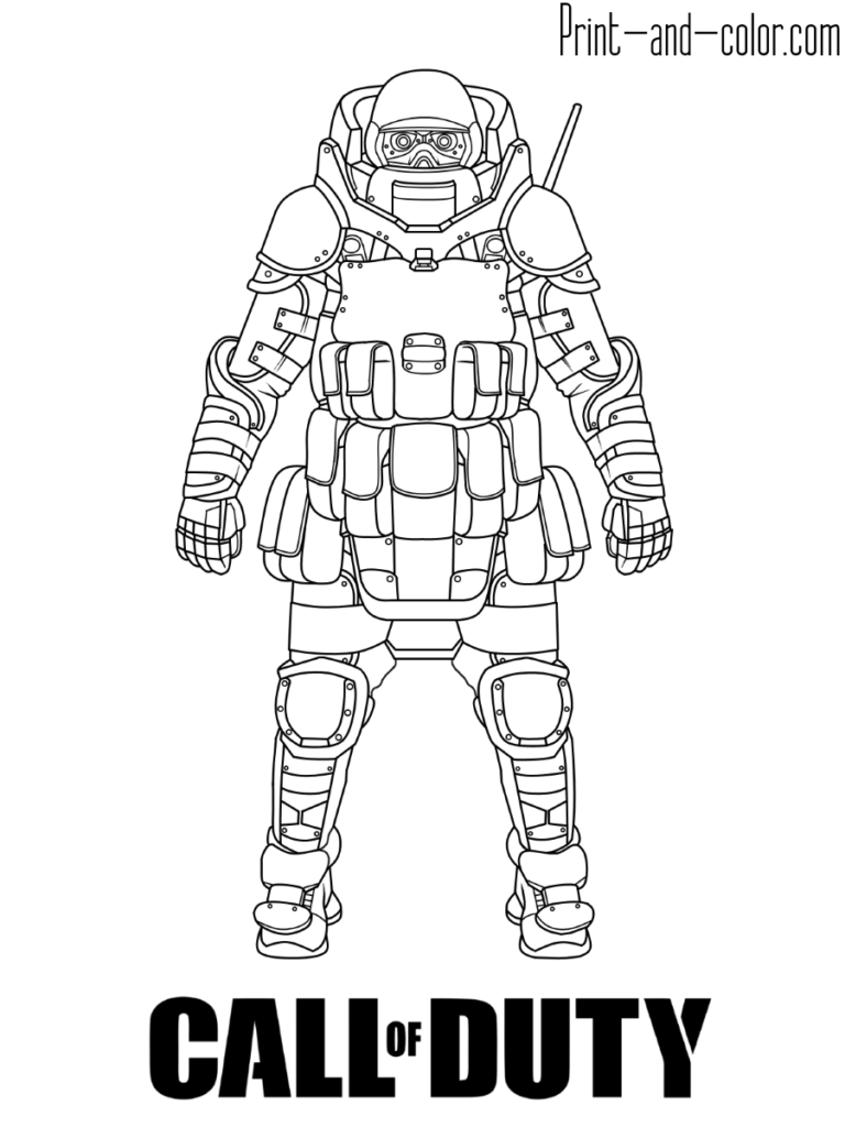 call of duty modern warfare coloring page juggernaut
