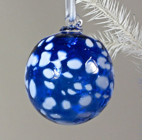 Suncatcher - Cobalt Blue and White Spotted Pattern~Etsy