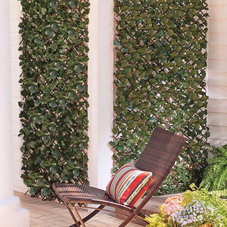 Expandable Faux Ivy Trellis | Artificial plants outdoor, Artificial plants  decor, Small artificial plants