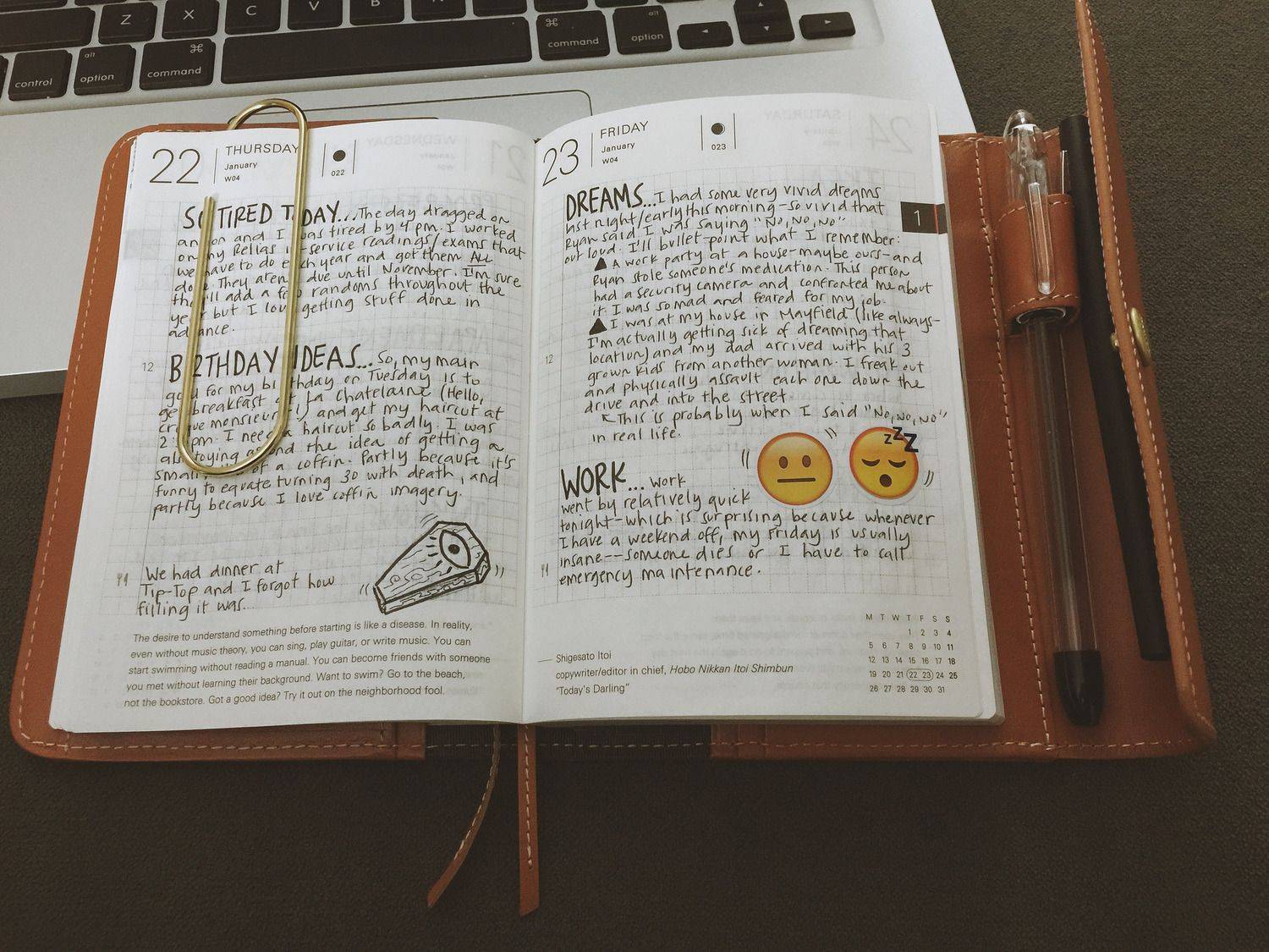 Journaling Idea: Use a daily planner with full pages and condense your daily reflections onto that (limited) space. It forces you to be concise! And ensures you won't be tempted to spend hours writing.