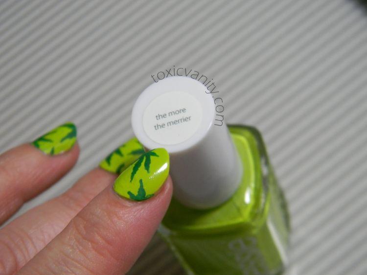 Día 4: Verde   Uñas decoradas de Marihuana   Toxic Vanity   Nail Art ...