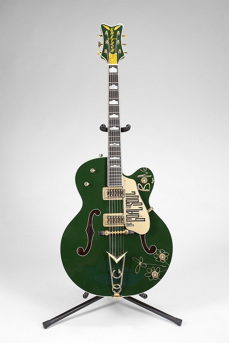 a gretsch irish falcon stage played guitar signed by u2 frontman bono guitars guitar music. Black Bedroom Furniture Sets. Home Design Ideas