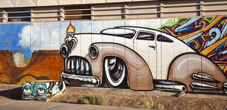 Phoenix muralists fostering respect for street art-A mural by Breeze and Lalo Cota, located at the Bee's Knees, 2222 N. 16th St.