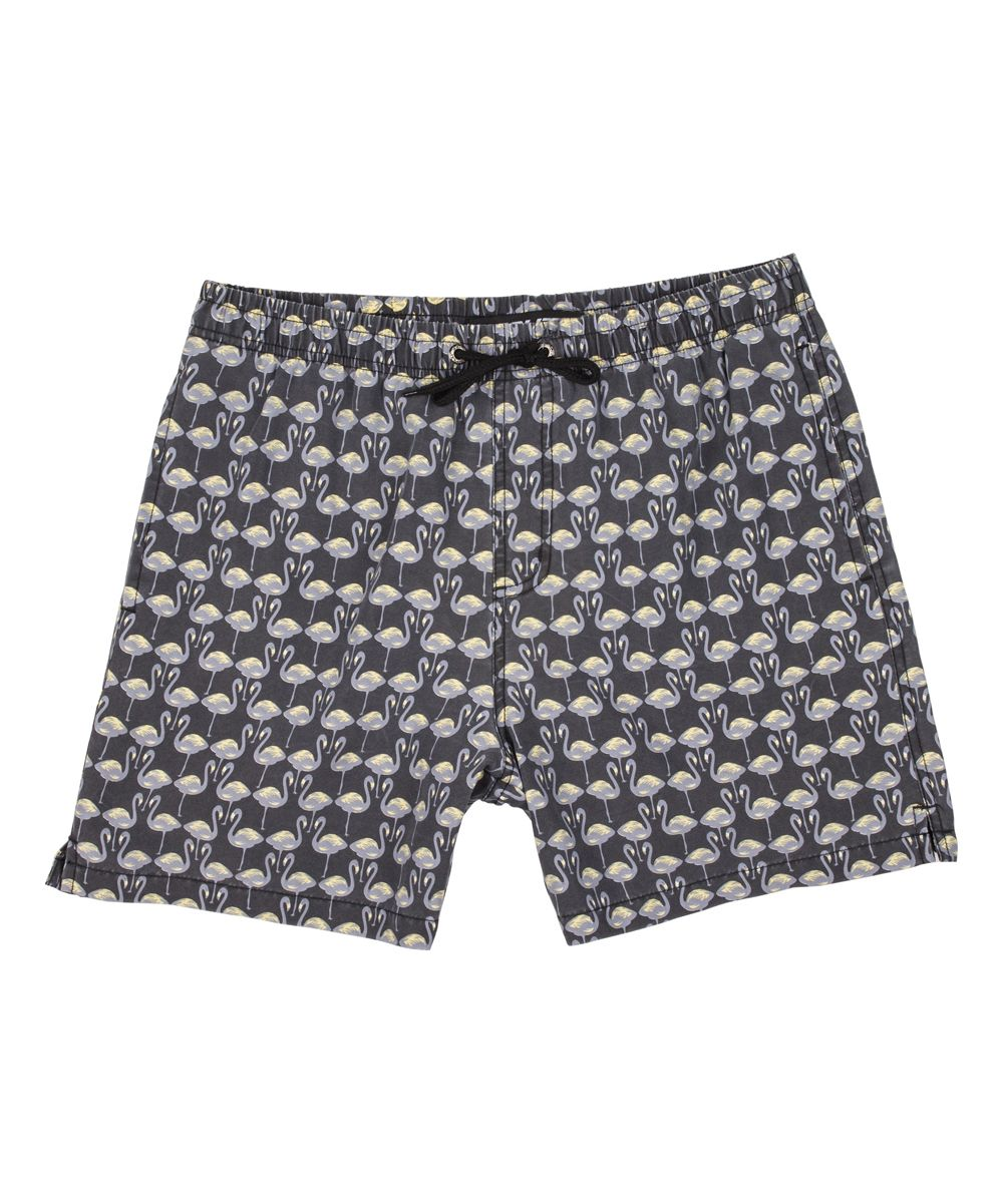 d82608ddfa Black Flamingo Swim Trunks - Men's Regular | Products | Swim trunks ...