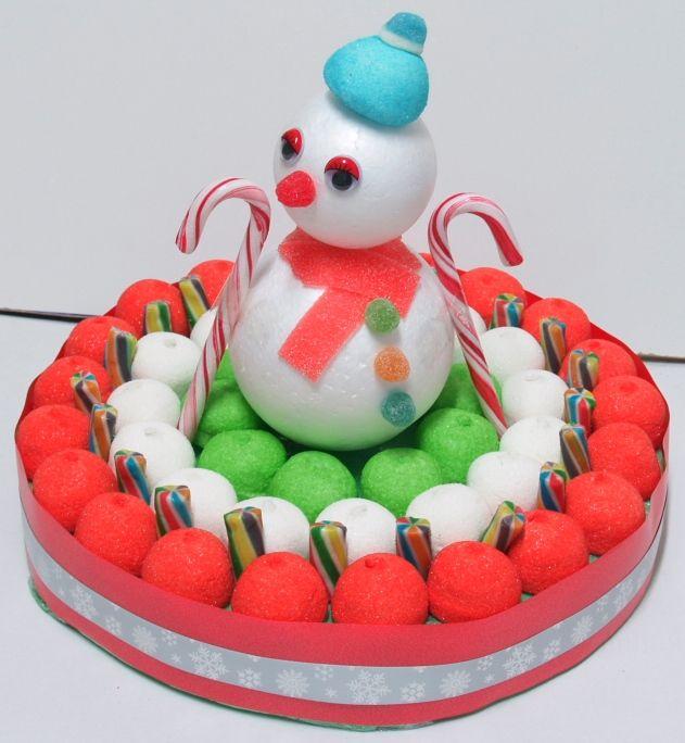 Tarta De Chuches De Navidad Tartas De Chuches Tarta De Golosinas Chuches