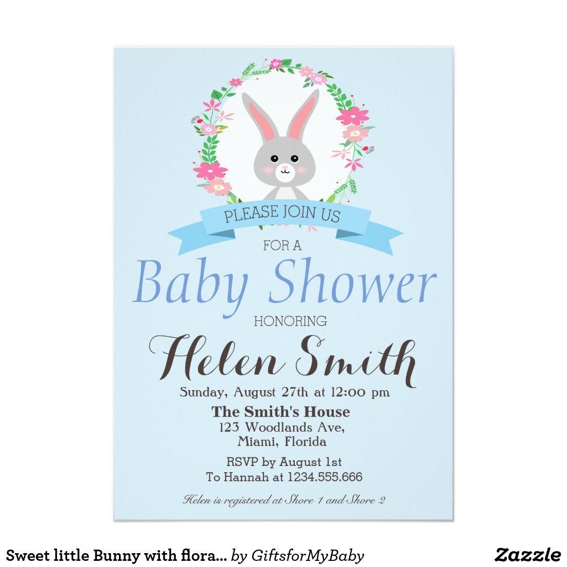 Fls Wreath Baby Shower Invitation