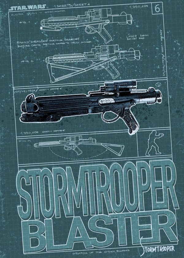 Star Wars Weapons Displate Posters
