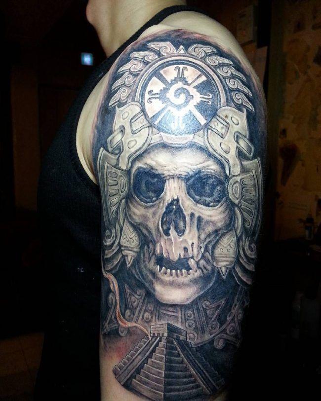 Tatuajes Mayas Tattos Tatuajes Mayas Tatuaje Azteca Y Calaveras