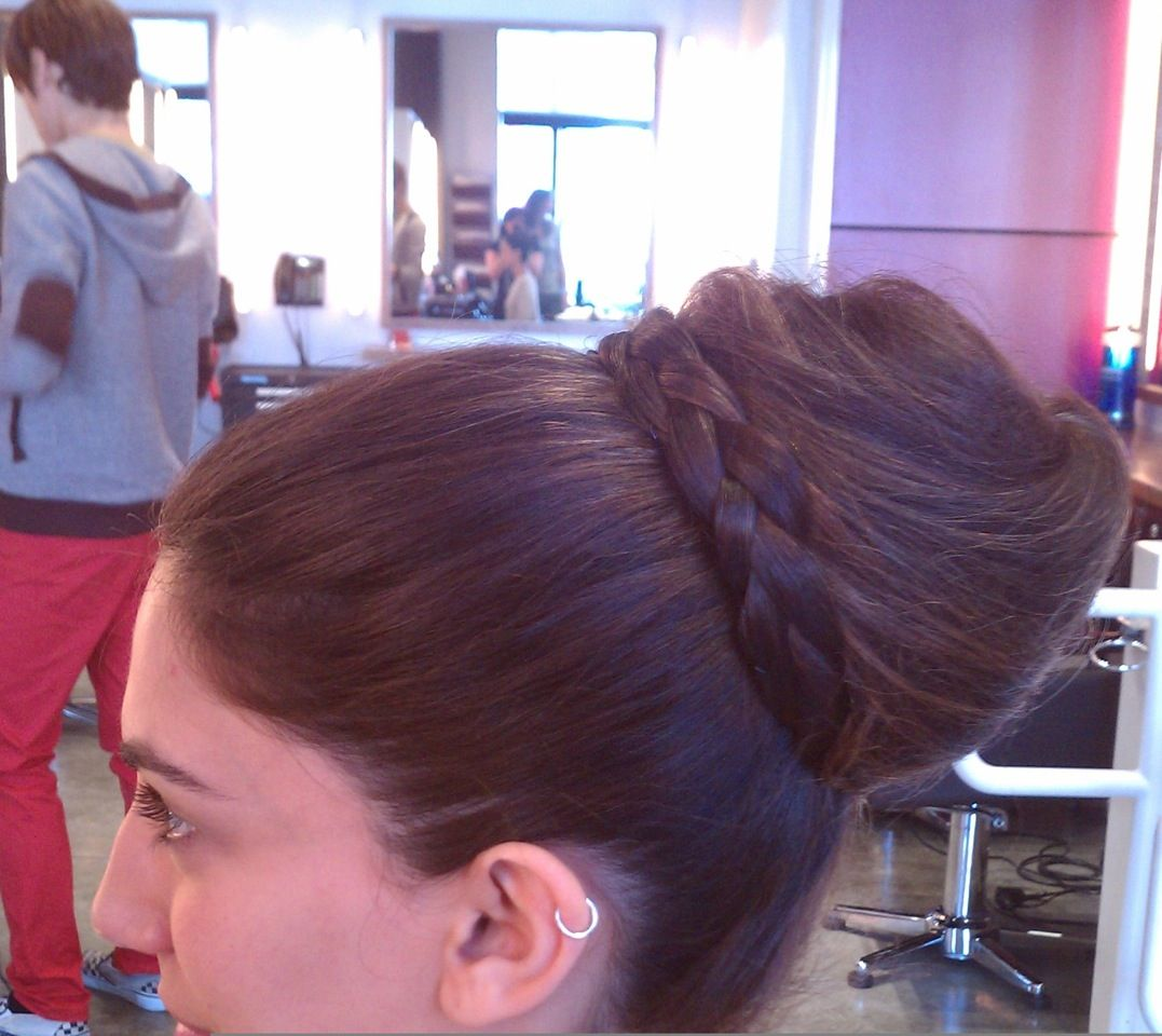 Grecian Bun Braided Bun by Stephanie Houdin  Our Hairstyling Team