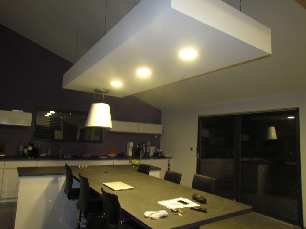 LED, RUBAN, DECORATIF, DOWNLIGHT - Eclairage LED Cuisine Salon