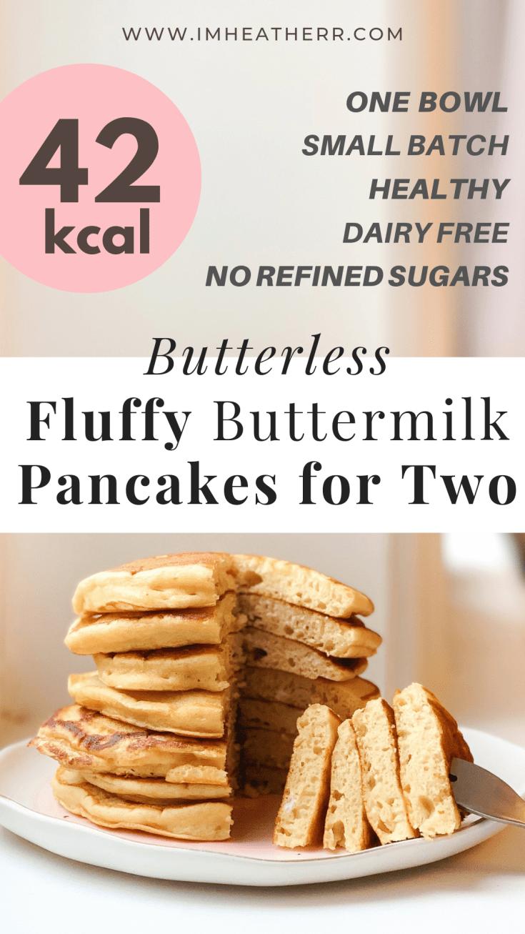 Butterless Fluffy Buttermilk Pancakes Recipe Buttermilk Pancakes No Calorie Foods Low Calorie Pancakes