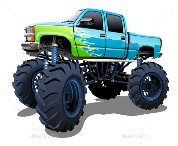 Cartoon Monster Truck Monster Trucks Car Cartoon Cartoon Monsters