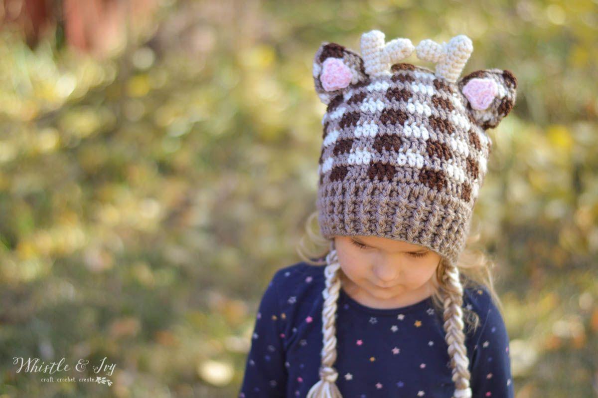 Plaid Woodland Animal Hats | Gorros y Patrones