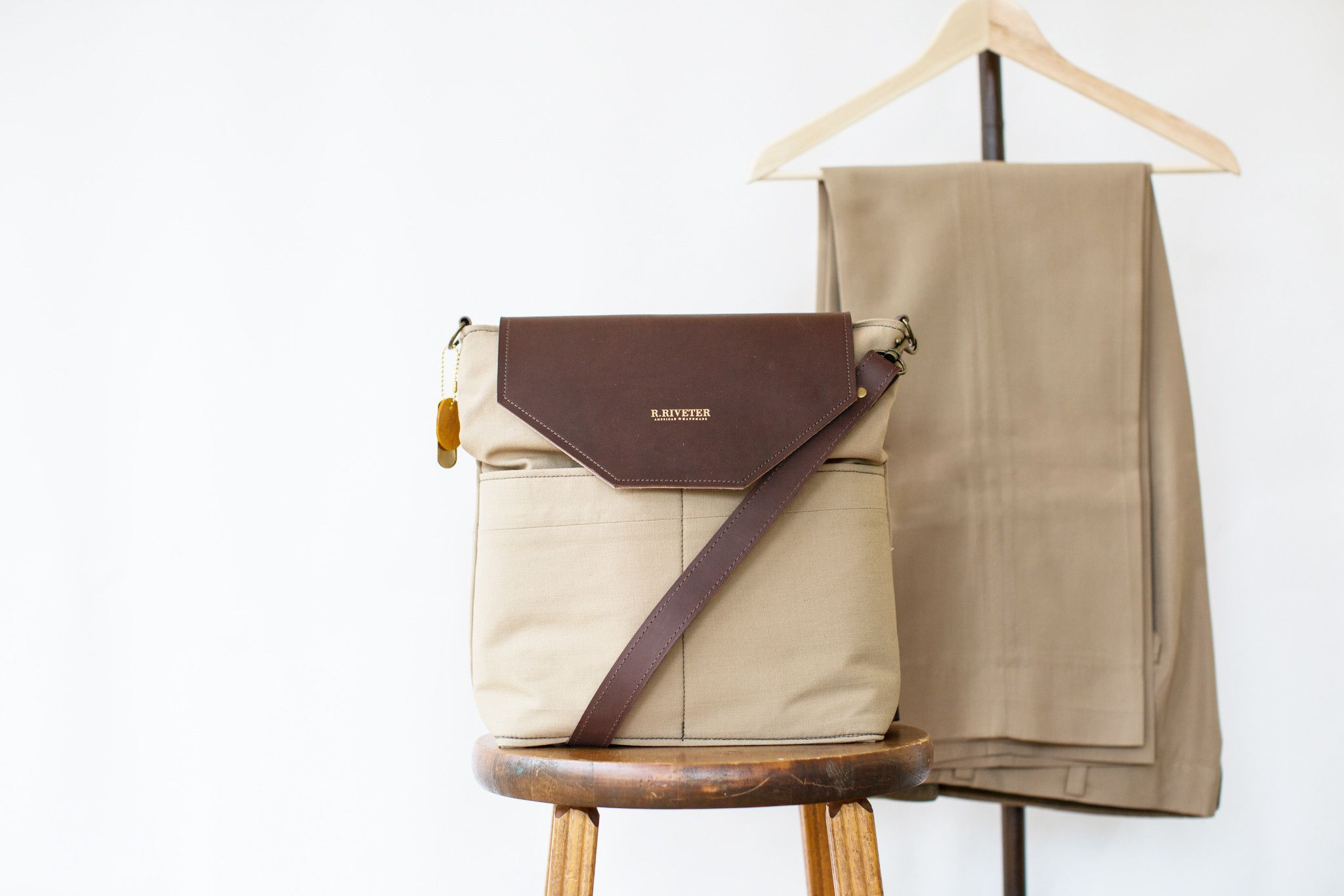 Heirloom Finch || Brown Leather + {Your Material}
