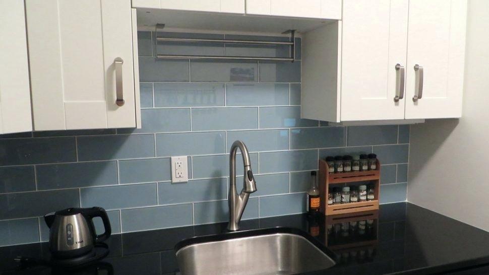 Grey Subway Tile Backsplash Interior
