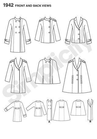 Simplicity 1942 - Project Runway // short cape!   sewing   Pinterest
