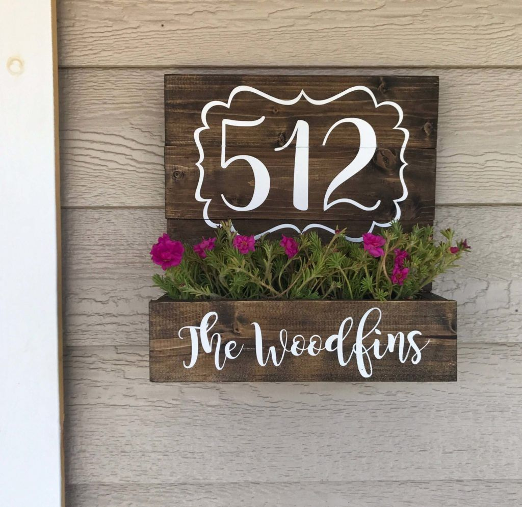 30 House Number Signs Ideas For 2020 With Images Porch Wall