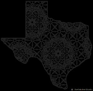 Texas Map Outline Printable State