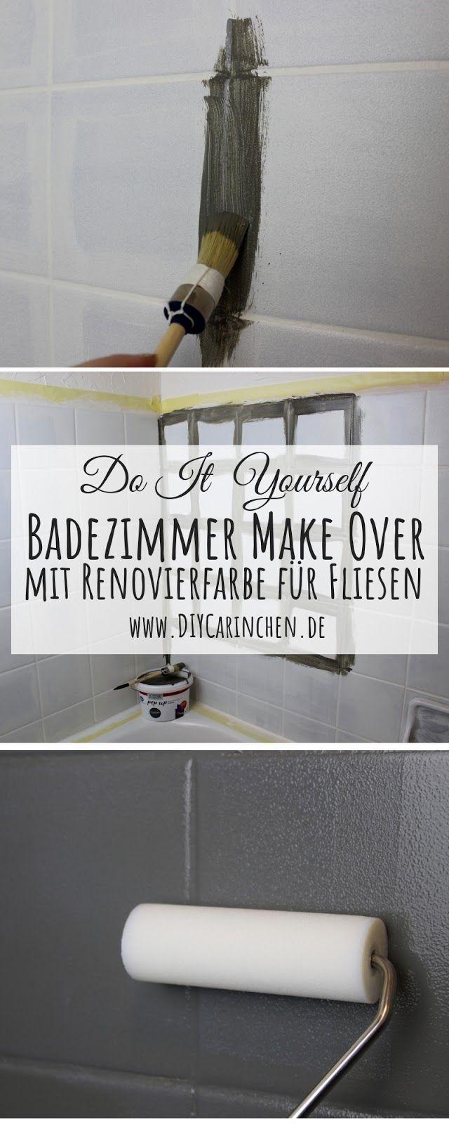 Diy Badezimmer Streichen Und Renovieren Mit Fliesenfarbe Anzeige Diy Diy Badezimmer Make Over In 2020 Mit Bildern Badezimmer Streichen Fliesenfarbe Badezimmer Gestalten