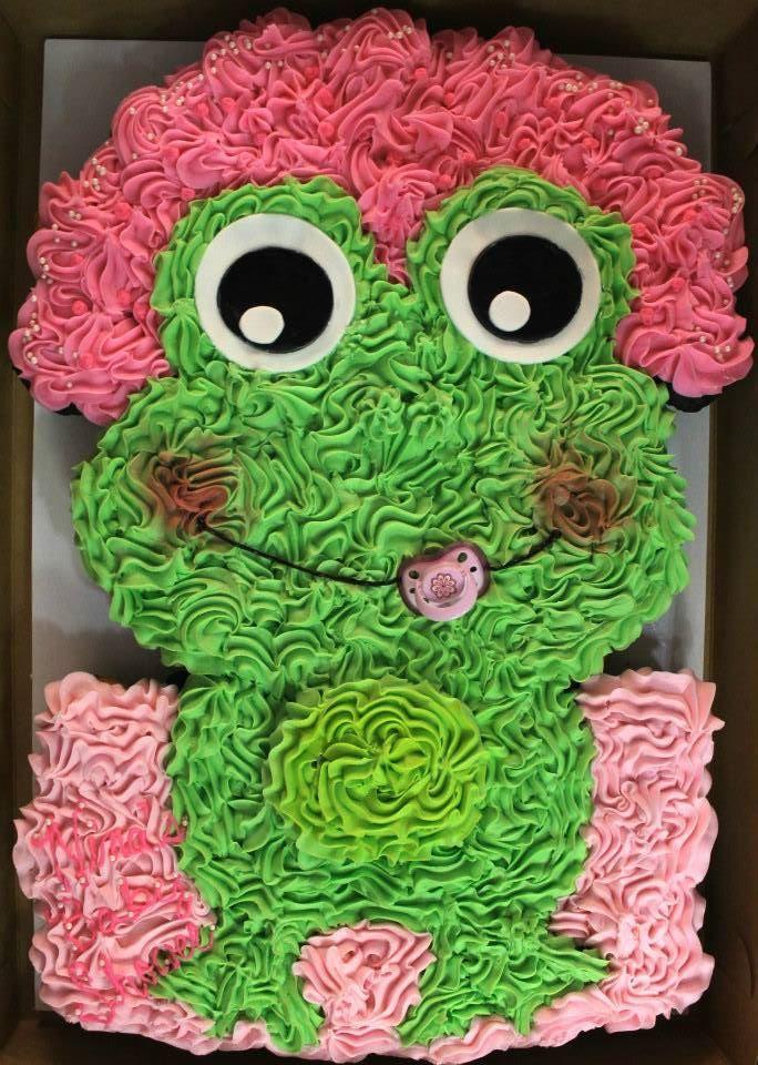 Baby Frog Pull Apart Cupcake Cake Needasugarush Http Www