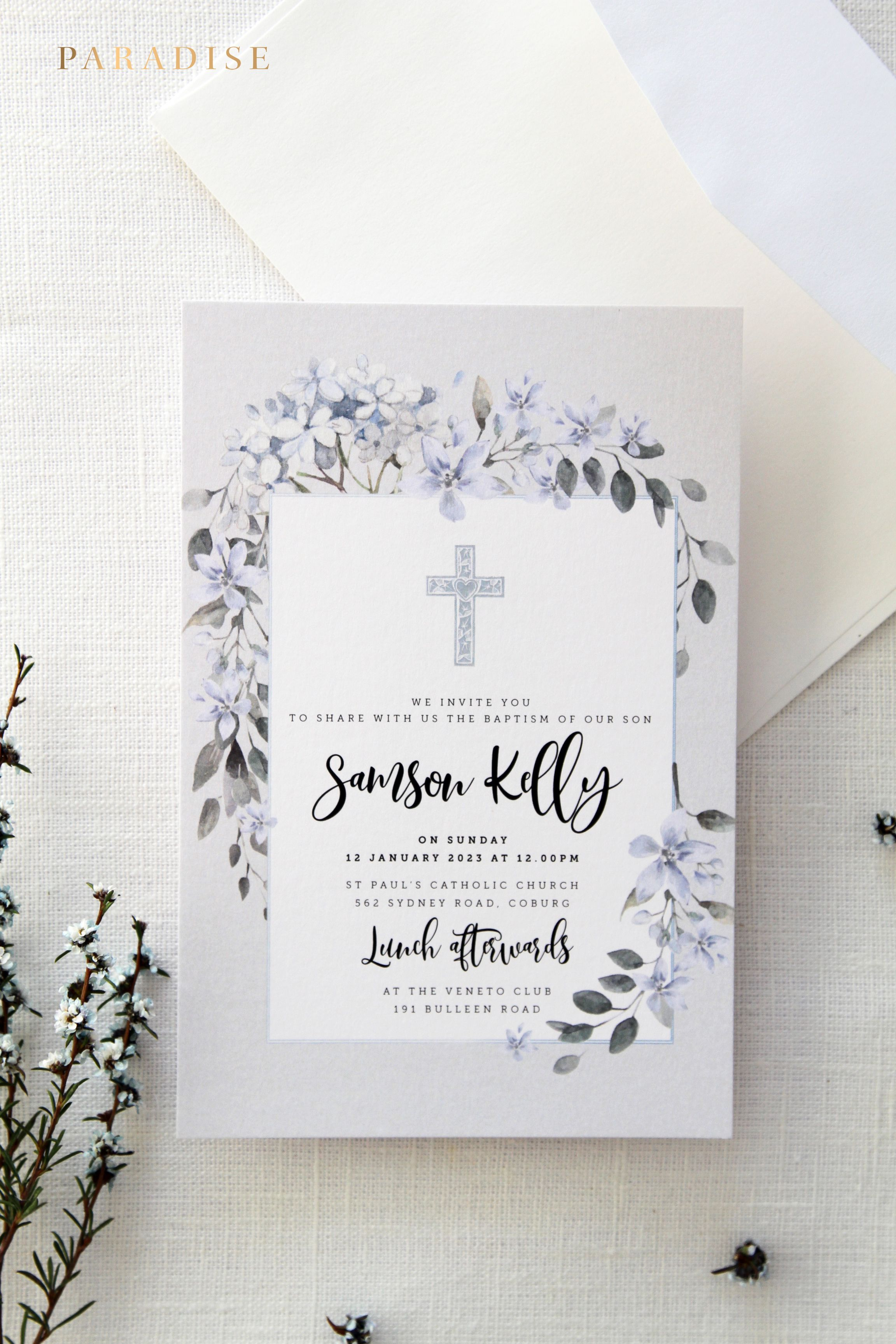 photograph relating to Printable Baptism Cards named Boy or Lady Baptism Invites, Christening Invitation