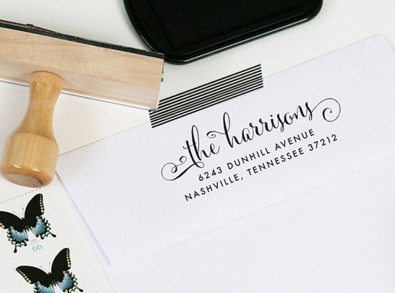 Custom Return Address Stamp By J Amber Creative