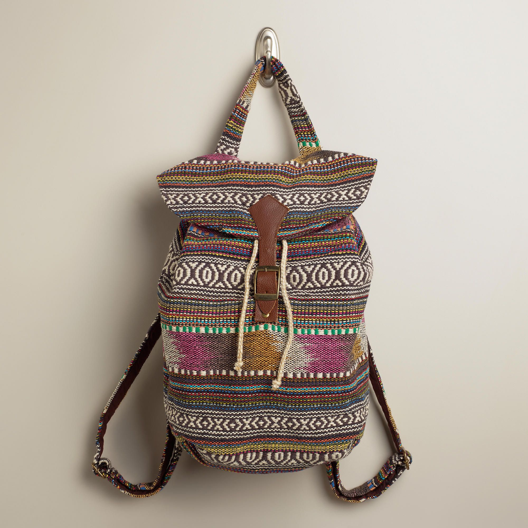 bd2e99f8d4 Brown and Pink Carpet Backpack