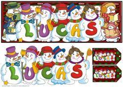 Snowmen Names Large Dl - Lucas