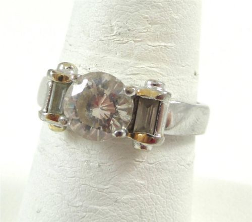 Vintage 925 Sterling Silver Faceted White Stone Ring Size 7 (3.5g) - 375088 in Jewelry & Watches, Jewelry & Watches | eBay