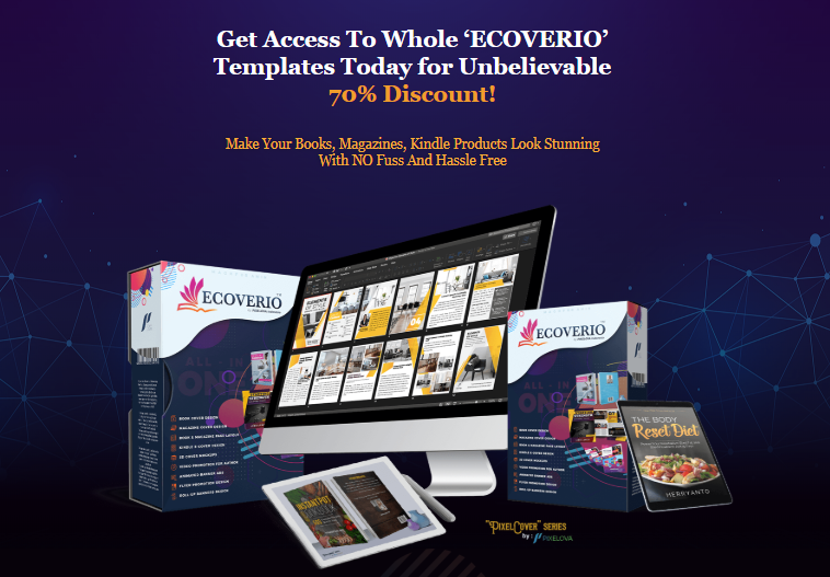 Ecoverio Bundle Pack Oto Upsell By Maghfur Amin Review Best Ecover Bundle Package With 9 Modul Professio Book Cover Template Kindle Cover Book Cover Design