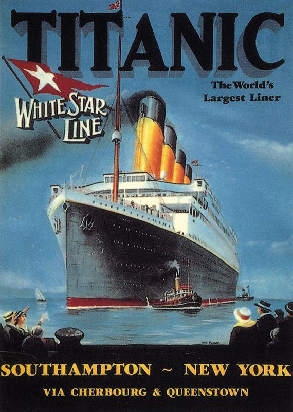 Titanic Poster 1912 | Poster di viaggio vintage, Poster ...