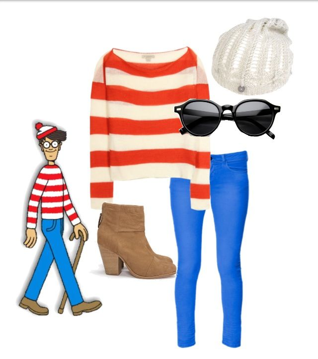 Wheres waldo outfit for girls my polyvore pinterest last minute diy halloween costumes for teens wheres waldo solutioingenieria Image collections
