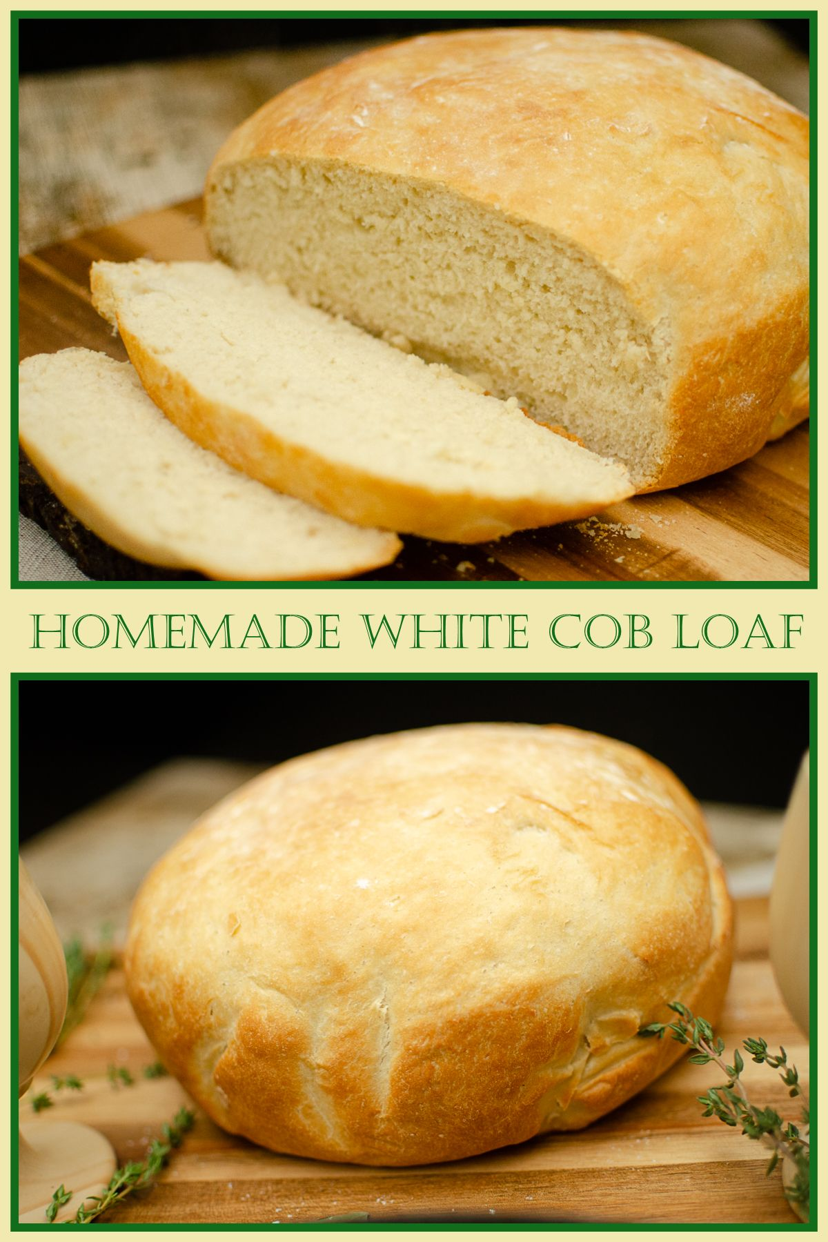 Impress your family and friends with this Homemade White Cob Loaf. It's cheap and so easy to make. Nothing better than the smell of fresh-baked bread! #flawlessfood #recipe #bakingrecipes #pressurecooker #bread