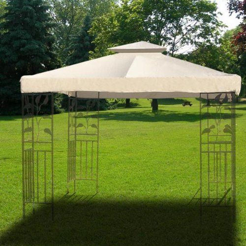 Replace My Gazebo 10x10 Ft Ivory 2 Layer Uv30 Protective Waterproof Polyester Gazebo Patio Canopy Replacement Top With Images Outdoor Patio Shades Gazebo Garden Canopy