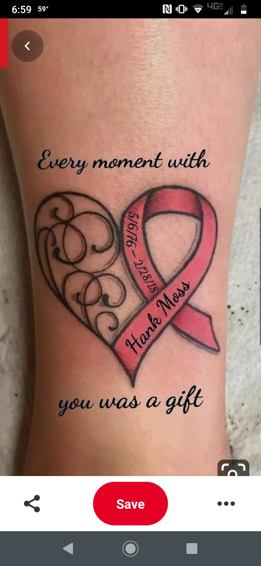 I love the quote for a memorial tattoo the heart is nice